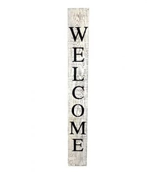 BarnwoodUSA Farmhouse Rustic Welcome Sign For Front Porch 5ft Front Door Decor Vertical Barnwood Welcome Sign Antique Outdoor Standing Sign Sturdy White Wash 0 300x360