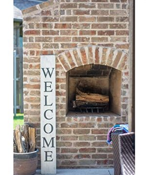 BarnwoodUSA Farmhouse Rustic Welcome Sign For Front Porch 5ft Front Door Decor Vertical Barnwood Welcome Sign Antique Outdoor Standing Sign Sturdy White Wash 0 4 300x360