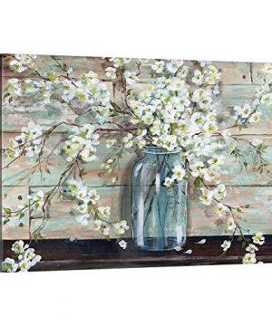 Blossoms In Mason Jar Canvas Wall Art Print Artwork 0 300x360