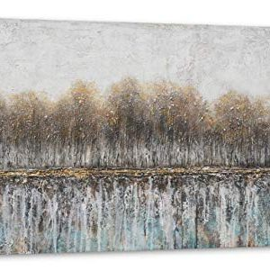 Canvas Wall Art For Bedroom Tree Farmhouse Wood Neutral Watercolor Painting Gray Brown Silver Birch Prints For Rustic Home Living Room Sofa Background Decor 20x40IN 0 300x301