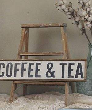 Coffee And Tea Sign Coffee Bar Sign Coffee And Tea Farmhouse Decor Wood Coffee Sign Custom Wood Sign Framed Wood Sign 6 X 20 0 300x360