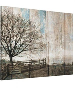 Country Farm Farmhouse Wall Decor 16X20Inch Rustic Tree Winter Landscape Picture Canvas Print Wall Art Painting For Living Room Bedroom Modern Home Decor Ready To Hang 0 300x360