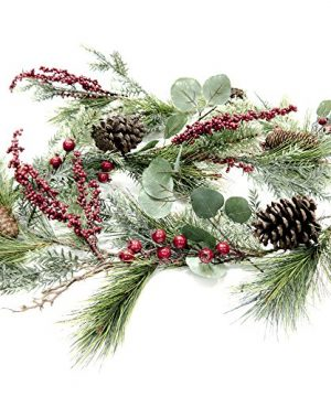 CraftMore Brighton Pine Christmas Garland 72 Inch 0 300x360