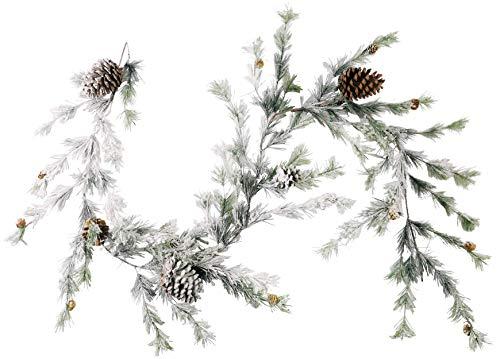 CraftMore Hillsboro Pine Garland With White Snow 6 Feet 0