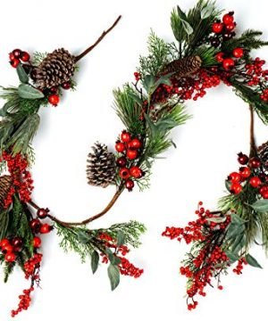 CraftMore Pine And Pomegranate Christmas Garland 0 300x360