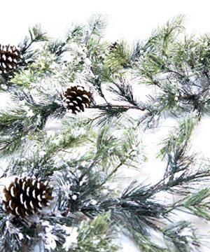 CraftMore Snowville Pine Christmas Garland 72 Inch 0 300x360