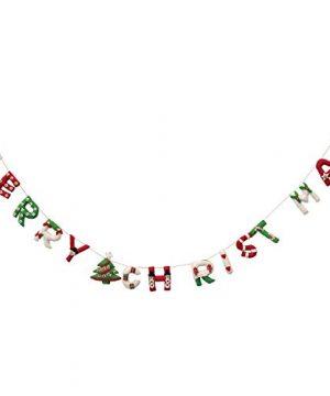 Creative Co Op 72 Appliqued Wool Felt Merry Christmas Banner Garland Multicolor 0 300x360