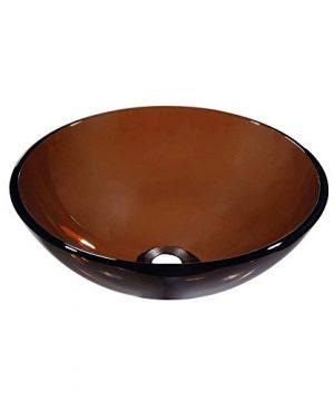 Dawn Tempered Glass Vessel Sink Round Shape Brown 0 300x360