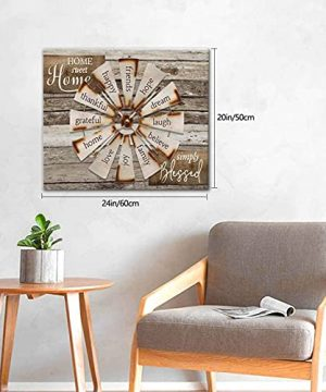 Drawpro Farmhouse Wall Art Farmhouse Windmill Canvas Print Barn Country Quotes Painting Family Artworks Home Decor For Bathroom Living Room Bedroom Framed 20x24 Inch 0 1 300x360