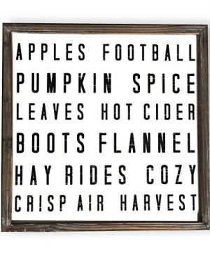 Fall Words Wood Sign Fall Home Decor Rustic Farmhouse Wooden Wall Art Autumn Cottage Country Decor 0 300x360