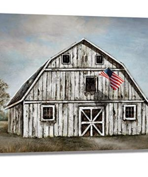 Farmhouse Old White Barn Wall Art For Bedroom Bathroom Wall Decor Canvas Picture Artwork 16x24 0 300x360