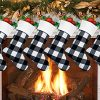 Faylapa 6 Pack Christmas Stocking Xmas Cuff Stockings 18 Inches Classic Large Stocking Decorations For Family Holiday Season Decor 0 100x100