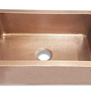 Hammered Style Copper Undermount Kitchen Sink Single Bowl 16 Gauge Basin Perfect For Home Hotel Farmhouse Dimension 33 X 22 X 9 0 300x320