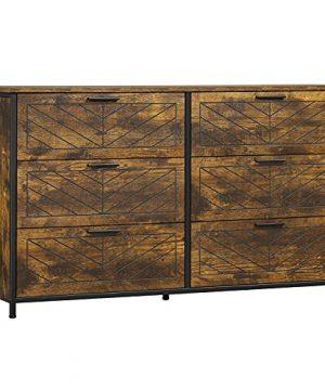 Hasuit 6 Drawer Double Dresser Industrial Storage Tower Clothes OrganizerAccent 0 300x360
