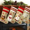 K MLICE Christmas Stockings 4 Pack For Family 19 Large Burlap Cartoon Xmas Stocking For Home Decor Rustic Farmhouse Stockings Set Of 4 For Christmas Decorations 0 100x100