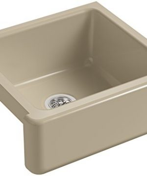 KOHLER K 5665 33 Whitehaven Self Trimming 23 1116 Inch X 21 916 Inch X 9 58 Inch Undermount Single Bowl Kitchen Sink With Tall Apron Mexican Sand 0 300x360