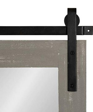 Kate And Laurel Cates Farmhouse Wood Framed Wall Mirror 18 X 26 Gray Barn Door Inspired Rustic Mirrors For Wall 0 2 300x360