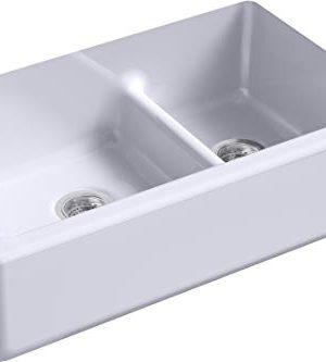 Kohler K 6427 GRL Whitehaven Kitchen Sink LavenderGrey 0 300x333