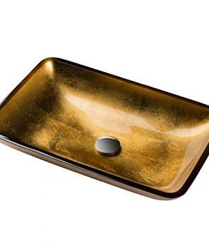 Kraus GVR 210 RE Golden Pearl Rectangular Glass Vessel Bathroom Sink 0 300x360