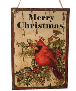 LUOEM Holiday Christmas Hanging Door Decorations Wooden Wall Sign Decorative Plaque Hanger Merry Christmas 0 300x360