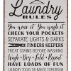 Laundry Rules Distressed Vintage Farmhouse Metal Sign For Laundry Room Decor 0 100x100