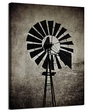 LevvArts Farmhouse Canvas Wall Art For Living Room Vintage Windmill Pictures Painting On Canvas Rustic Home Wall Decor Framed Artwork Ready To Hang 0 300x360