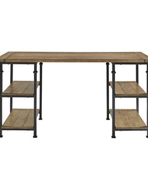 Lexicon Milligan Wood Writing Desk With 4 Storage Shelves 60 X 28 Rustic Brown 0 0 300x360