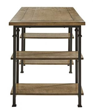 Lexicon Milligan Wood Writing Desk With 4 Storage Shelves 60 X 28 Rustic Brown 0 1 300x360