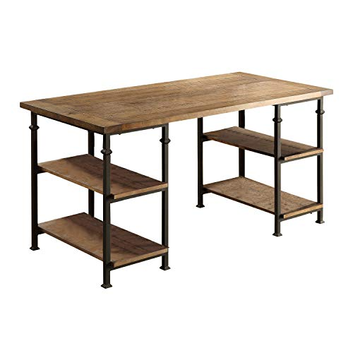 Lexicon Milligan Wood Writing Desk With 4 Storage Shelves 60 X 28 Rustic Brown 0