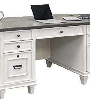 Martin Furniture Double Pedestal Desk White 0 300x342