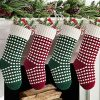 Meriwoods Christmas Stockings 4 Pack 18 Inches Large Cable Knit Knitted Stockings Rustic Xmas Farmhouse Decorations For Family Holiday Country Home Decor Burgundy Red Green Cream White 0 100x100