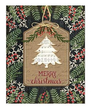 Merry Christmas Ornament Rustic Wood Wall Sign 12x15 0 300x360