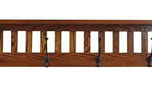 Mission Style Wall Mounted Coat Rack With Shelf Wooden Hat Rack Entryway Organizer With Hooks Rustic Farmhouse Mounted Wall Rack 4 Hooks 42L Oak Wood Michaels Stain 0 300x183