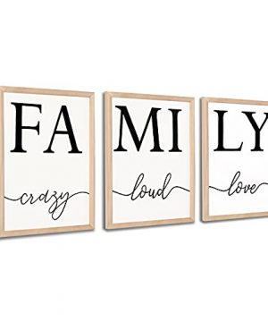 Mokof 3 Pack Family Wall Art Farmhouse Wood Framed Sign Wall Decor 12 X 16 0 300x360
