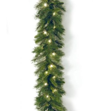 National Tree Company Lit Artificial Christmas Garland Includes Pre Strung White Lights Winchester Pine 9 Ft 108X10X6 0 300x360