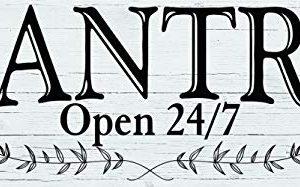 Pantry Open 247 Wood Sign 16 X 6 Farmhouse Wall Decor 0 300x187