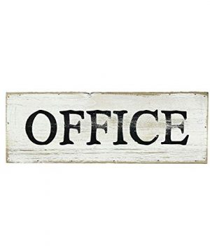 Parisloft Office Whitewashed Wood Wall Sign Rustic Farmhouse Wall Hanging Decor 13 X 1 X 45 Inches 0 300x360