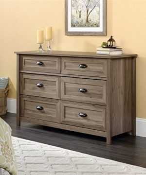 Pemberly Row Sturdy 6 Drawer Dresser In Salt Oak 4 Extra Deep Drawers For Sweaters Blankets 0 300x360