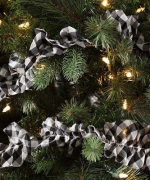 Pine Valley Quilts Emmie Black Buffalo Check Christmas Farmhouse Garland Set Of 3 9ft 0 300x360