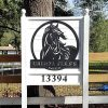 RealSteel Personalized Horse Ranch Sign Custom Horse Sign Metal Ranch Sign Farmhouse Decor Perfect Entry Roads Front Gates Stables And Barns Family Homes Employee And Member Gifts 0 100x100