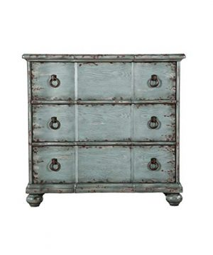 Right2Home Distressed Three Drawer Farmhouse River Blue Accent Chest 0 300x360