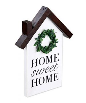 Rustic Wood Block House Little Wood House Decor Home Sweet Home Sign Wood Houses Farmhouse Decorative 0 300x360
