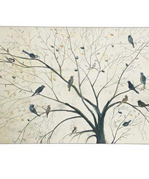 Sencillez Bird Canvas Wall Art With Hand Painting For Home Decor Farmhouse Wall Decor Hand Painting Wall Artbird 20x28 Inch 0 300x360