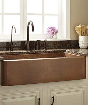 Signature Hardware 926762 36 Raina 36 Single Basin Copper Farmhouse Sink 0 300x360