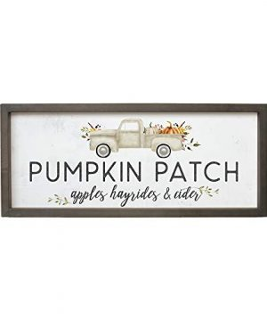 Simply Said INC Farmhouse Frames Pumpkin Patch Fall Activities 10 X 24 In Rustic Wood Sign FF1100 0 300x360