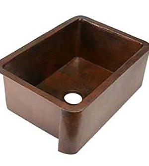 Soluna 30 Fernanda Single Well Copper Farmhouse Sink 0 300x334