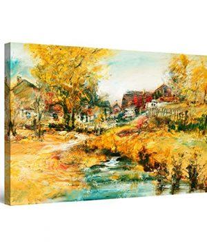 Startonight Canvas Wall Art Beauty Of Rustic Landscape Framed Wall Decor 32 X 48 0 300x360