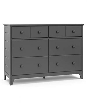 Storkcraft Moss 6 Drawer Universal Double Dresser Gray Bedroom Furniture Storage Modern Farmhouse Style Sturdy And Durable Wood Construction 6 Deep Spacious Drawers Steel Hardware 0 300x360