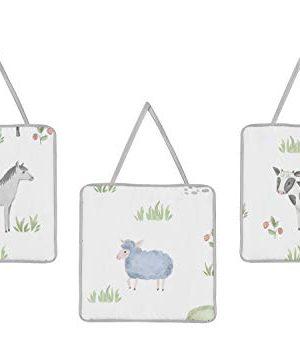 Sweet Jojo Designs Farm Animals Baby Boy Or Girl Nursery Crib Bedding Set 11 Pieces Watercolor Farmhouse Lattice Horse Cow Sheep Pig 0 1 300x357
