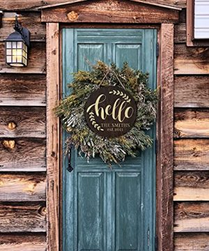Welcome Signs For Front Door Personalized Porch Sign W Family Name 12 Round 5 Wood Colors 8 Designs Engraved Wood Sign For Outdoor Front Porch Farmhouse Front Door Decorative Hanger 0 1 300x360